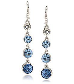 Carolee® Something Blue Graduated Linear Earrings