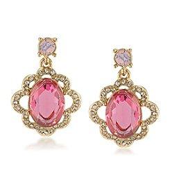 Carolee® Spring Bouquet Double Drop Earrings
