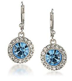 Carolee® Something Blue Crystal Stud Drop Earring