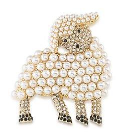 Carolee® Pin Me Lamb Brooch