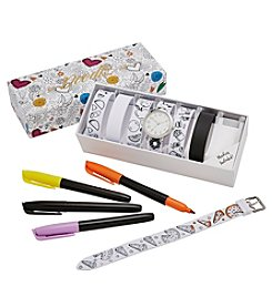 Doodlz Color On Watch Straps Watch Set With Markers - Foods