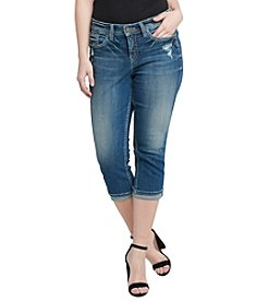 Silver Jeans Co. Plus Size Suki Cuffed Capri