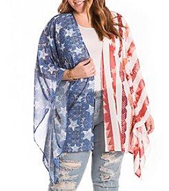Eyeshadow® Plus Size Americana Kimono
