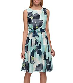 Tommy Hilfiger® Printed Sheer Stripe Dress