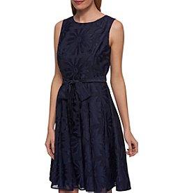 Tommy Hilfiger® Sheer Floral Clip Dress