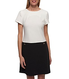 Tommy Hilfiger® Color Block Scuba Crepe Shift Dress