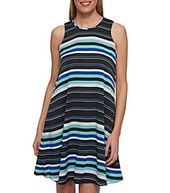 Tommy Hilfiger® Striped Chiffon Dress