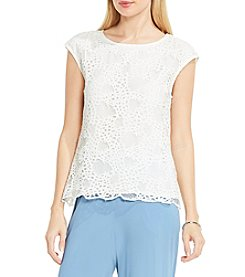 Vince Camuto® Extend Shoulder Organic Lace Blouse