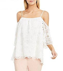 Vince Camuto® Cold Shoulder Organic Lace Blouse