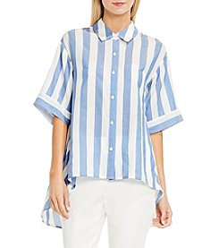 Vince Camuto® Bold Stripe Oversized Button Down Shirt