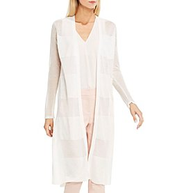 Vince Camuto® Sheer Stripe Long Cardigan