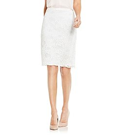 Vince Camuto® Fine Organic Lace Pencil Skirt