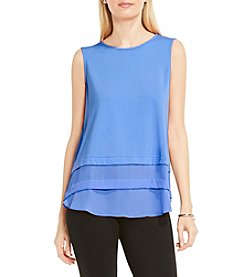 Vince Camuto® Mix Media Layered Top