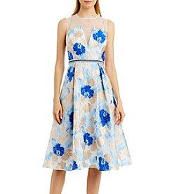 Nicole Miller New York® Sheer Beaded Waist Dress