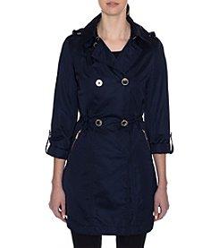 Tahari® Double Breasted Rain Jacket