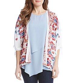 Karen Kane® Embroidered Kimono Jacket