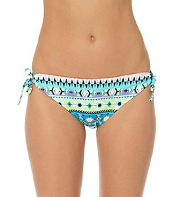 In Mocean® Printed Parade Side Tie Bikini Bottoms