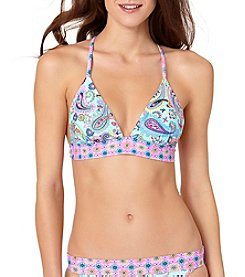 In Mocean® Paisley Print Halter Bikini Top