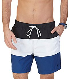 Nautica® Quick Dry Color Block Swim Trunks