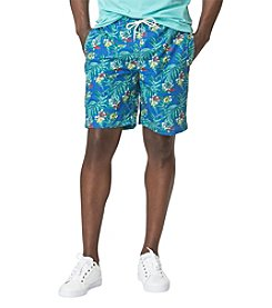 Chaps® Tropical Print Swim Trunk