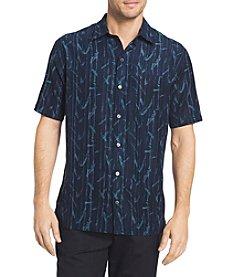 Van Heusen® Men's Big & Tall Poly Print Short Sleeve Button Down Shirt
