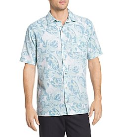 Van Heusen® Men's Big & Tall Oasis Fan Leaves Printed Dobby Shirt