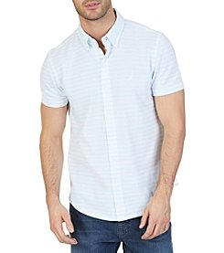 Nautica® Slim Fit Oxford Pique Short Sleeve Shirt