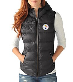 G III Pittsburgh Steelers Women's Free Agent Packable Vest