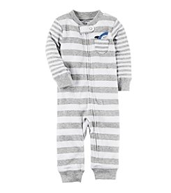 Carter's® Baby Boys' Striped Shark Coverall