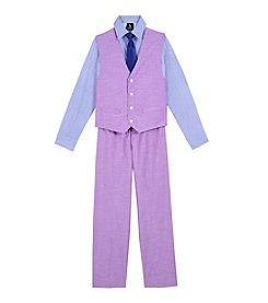 Steve Harvey Boys' 8-20 4-Piece Chambray Vest Set