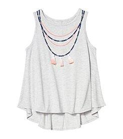 Jessica Simpson Girls' 7-16 Dip Dye Necklace Tank
