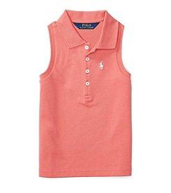 Polo Ralph Lauren® Girls' 5-6X Mesh Polo Shirt