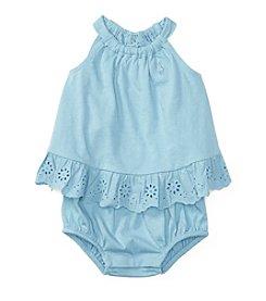 Ralph Lauren® Baby Girls' Bubble Shortalls