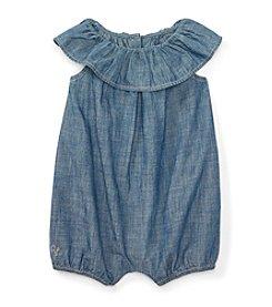 Ralph Lauren® Baby Girls' Ruffle Bubble Shortalls