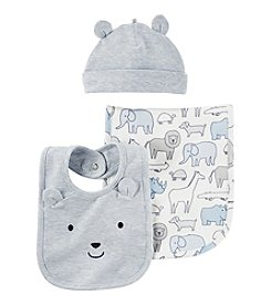 Carter's® Baby 3-Piece Hat & Bib Set