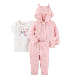 Carter's® Baby Girls' 3-Piece Bear Hoodie Set