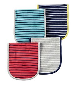 Carter's® Baby Boys' 4-Pack Striped Burp Cloths