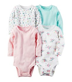 Carter's Baby Girls' 4-Pack Floral Bodysuits