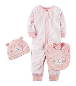 Carter's® Baby Girls' 3-Piece Bodysuit And Bib Set