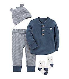 Carter's® Baby Boys 4-Piece Striped Take Me Home Set
