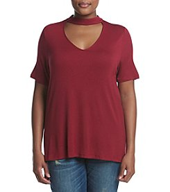 Living Doll® Plus Size Short Sleeve Knit Gigi Top