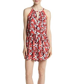 Eyeshadow® Crochet Trim Floral Romper