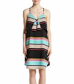 Eyeshadow® Stripe Woven Knot Bow Dress