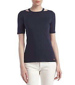 MICHAEL Michael Kors® Detached Neck Trim Top