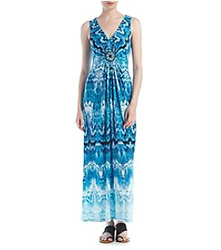 R&M Richards® Beaded Maxi Dress
