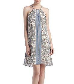 Luxology Paisley Chiffon Dress
