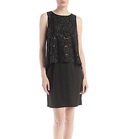 Jessica Howard® Sequin Pop-Over Dress