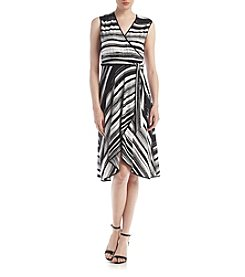 Calvin Klein Striped Matte Jersey Dress