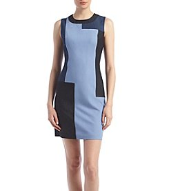 Calvin Klein Patchwork Sheath Dress