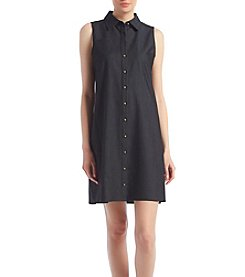 Calvin Klein Button Front Trap Dress